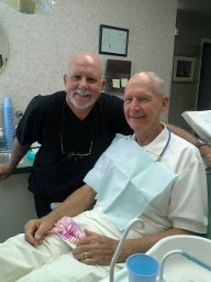 Dr. Chapman & one of our long time favorite patients. HAPPINESS IS A GREAT DENTIST!